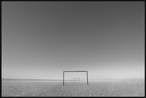 Soccer Field, Gobi, 2008, Frank Ward