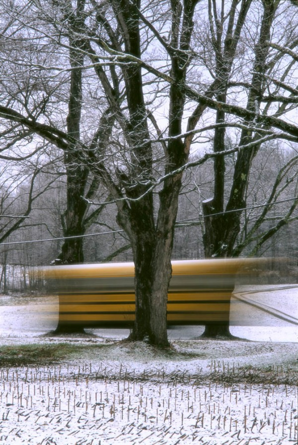 "All pictures are from ""the school bus series"" by Gregory Thorp"