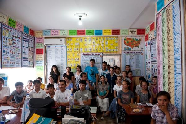 Isfara, Tajikistan classroom